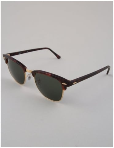 Ray-Ban Clubmaster Sunglasses - Tortoise/Arista // Green