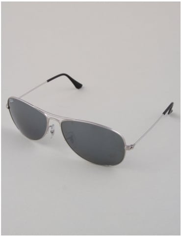 Ray-Ban Cockpit RB3362 Sunglasses - Silver // Crystal Grey Mirror
