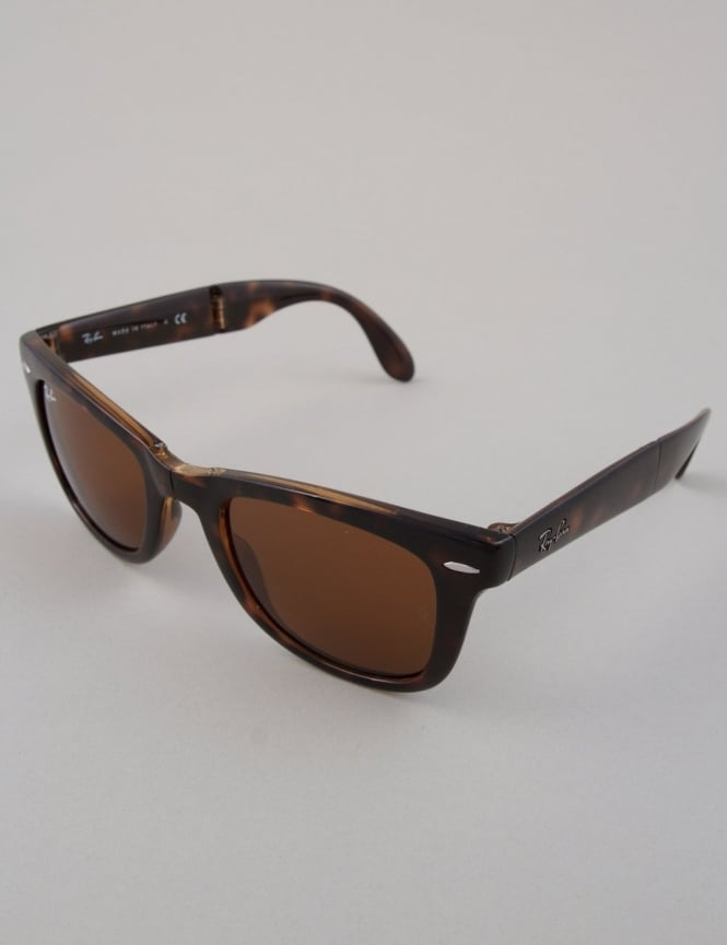 Ray-Ban Folding Wayfarer Sunglasses - Havana // Crystal Brown