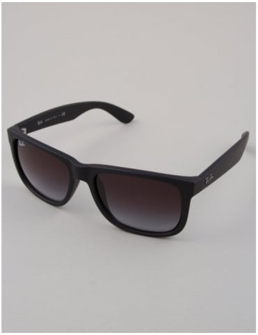 Ray-Ban Justin Sunglasses - Black // Grey Gradient