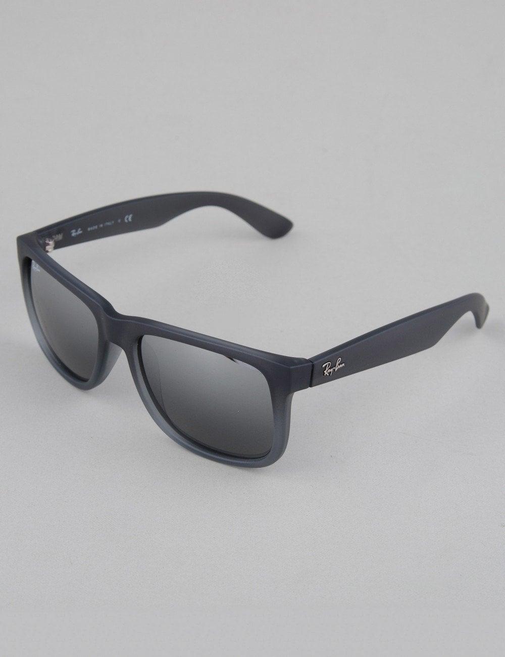 75a73a82b2 Ray-Ban Justin Sunglasses - Rubber Grey    Silver Mirror ...