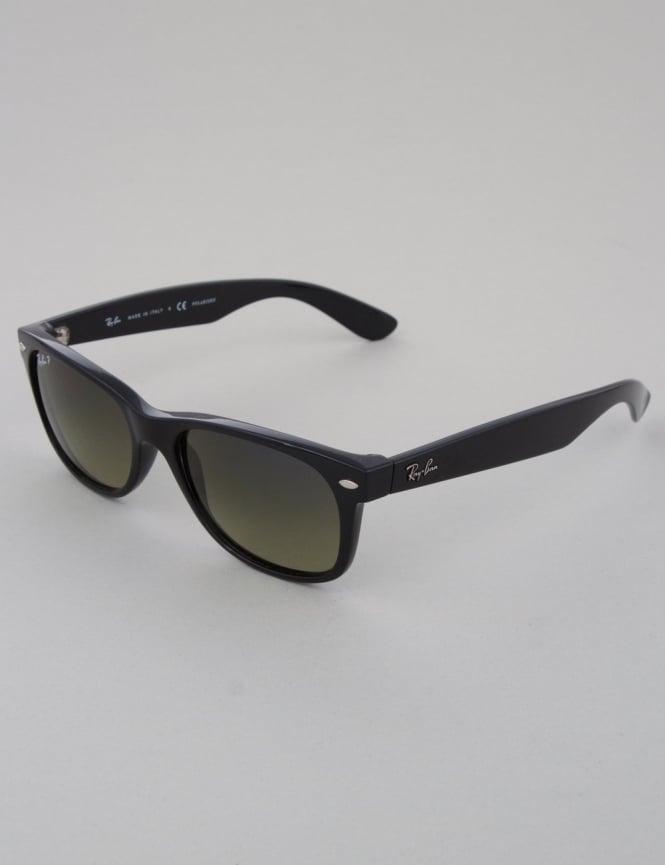 Ray-Ban New Wayfarer Sunglasses - Black // Green Polarized