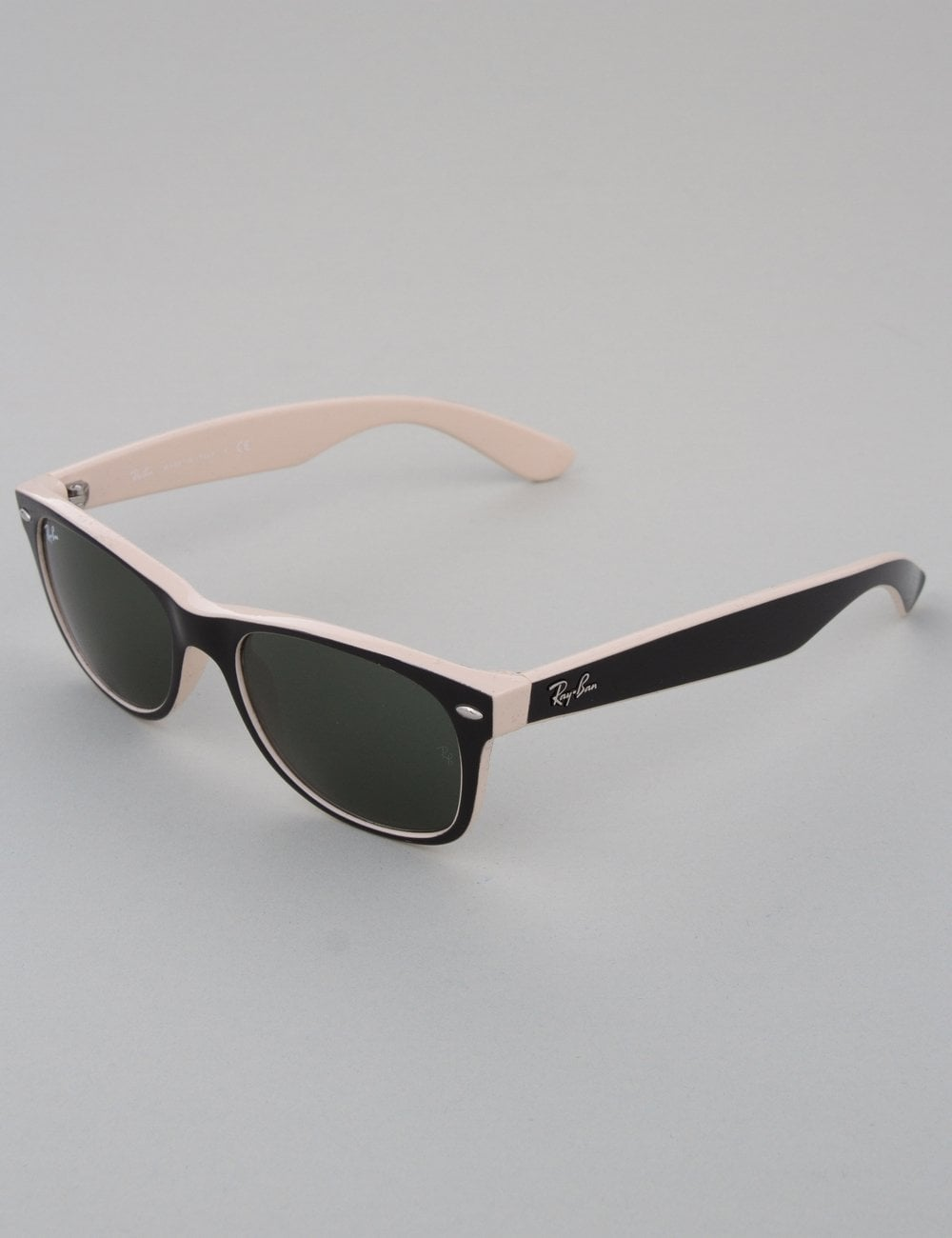 Ray-Ban New Wayfarer Sunglasses - Top Black on Beige    Crystal Green 4edbd133e79f3
