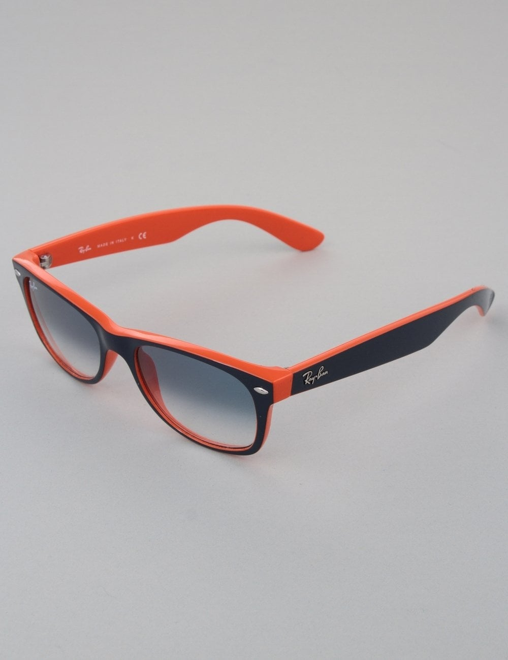 a9aee66cb Ray-Ban New Wayfarer Sunglasses - Top Blue/Orange // Crystal Gradient Light  Blue