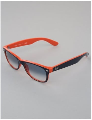 New Wayfarer Sunglasses - Top Blue/Orange // Crystal Gradient Light Blue