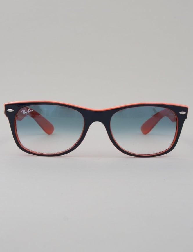 New Wayfarer Sunglasses - Top Blue Orange    Crystal Gradient Light Blue ac43c1e392ae