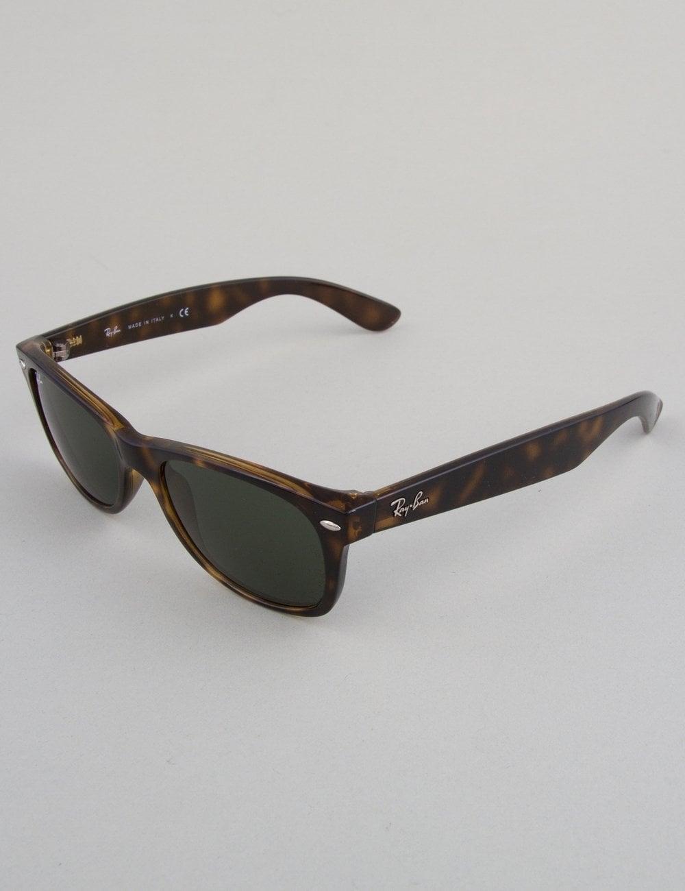 994b09ed418 Ray-Ban New Wayfarer Sunglasses - Tortoise    Crystal Green ...