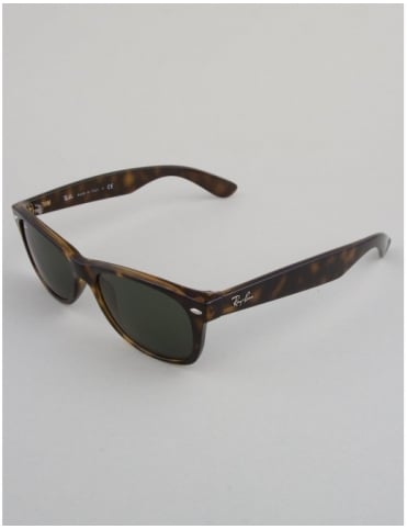 New Wayfarer Sunglasses - Tortoise // Crystal Green