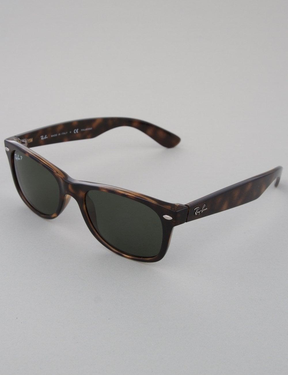 eb0ab32e9b Ray-Ban New Wayfarer Sunglasses - Tortoise    Crystal Green Polarized