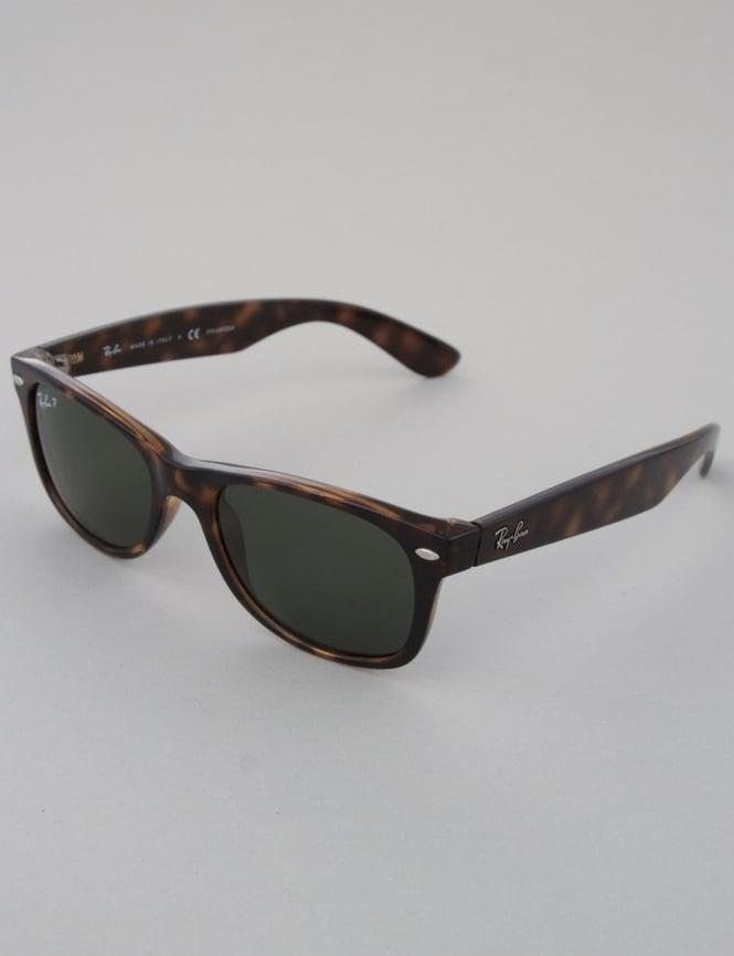 Ray-Ban New Wayfarer Sunglasses - Tortoise // Crystal Green Polarized