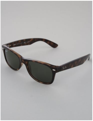 New Wayfarer Sunglasses - Tortoise // Crystal Green Polarized