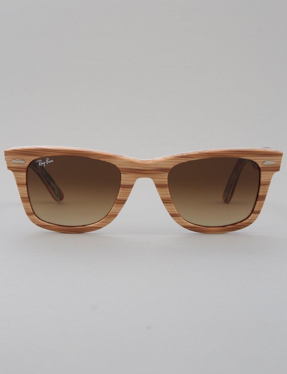 a2257afd66 Ray-Ban Original Wayfarer Sunglasses - Wood Surfs Up    Brown ...