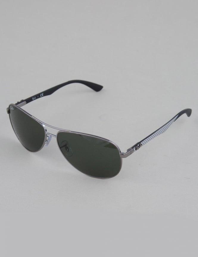 Ray-Ban RB8313 Tech Carbon Fibre Sunglasses - Gunmetal // Gray