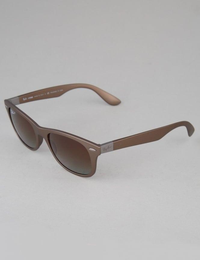 Ray-Ban Tech Liteforce Sunglasses - Matte Brown // Polarized Brown