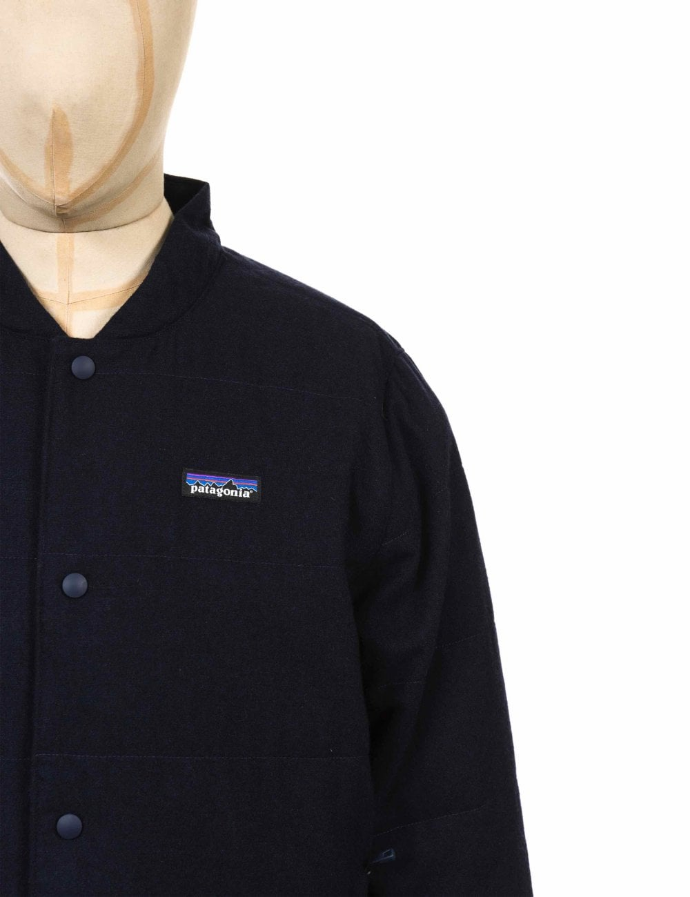 5108d0b03 Recycled Wool Bomber Jacket - Classic Navy