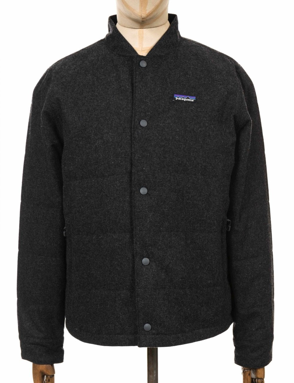 3451fab8706 Patagonia Recycled Wool Bomber Jacket - Forge Grey - Clothing from Fat  Buddha Store UK
