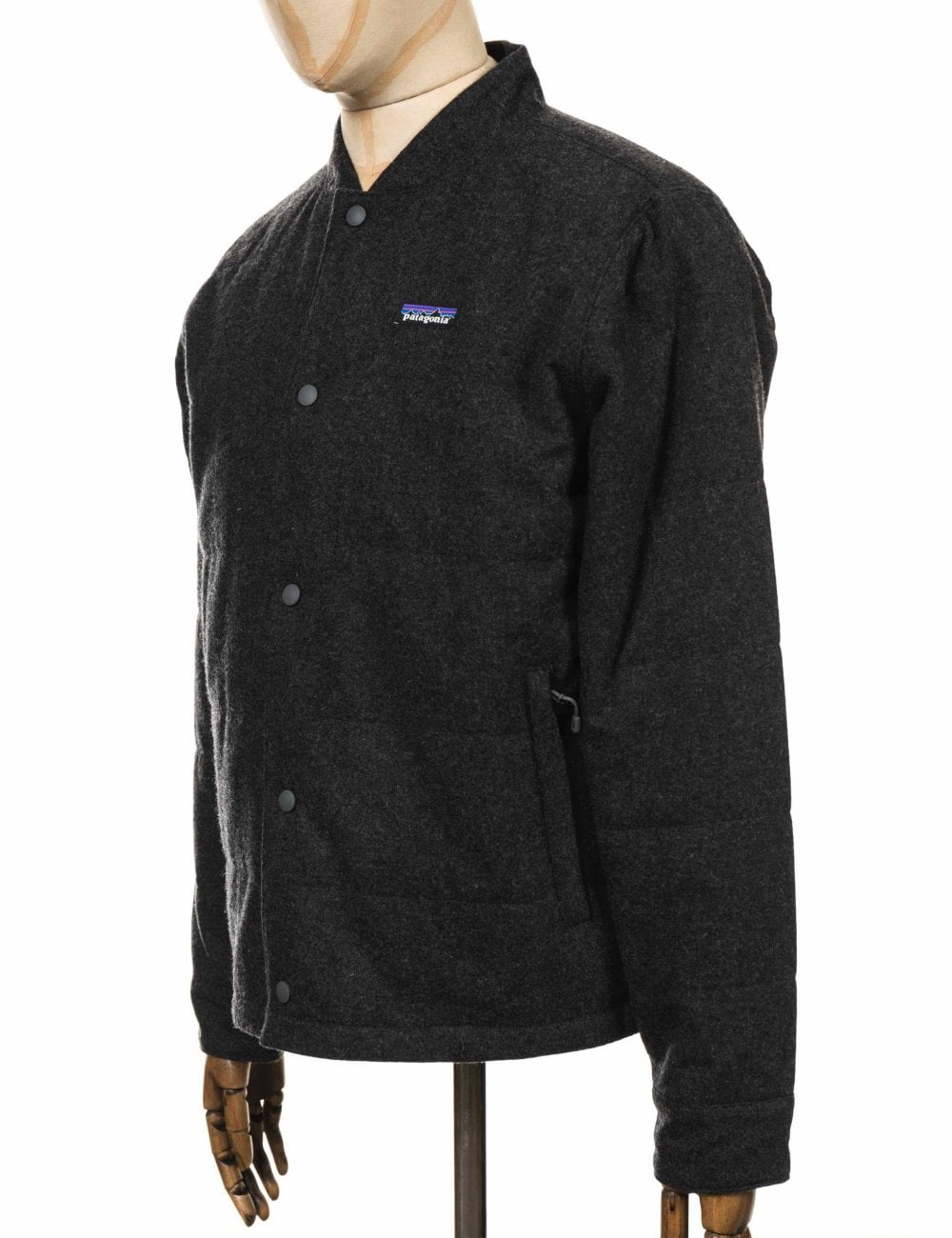3b954d0fe Recycled Wool Bomber Jacket - Forge Grey