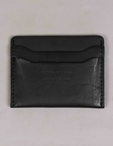 95019 Leather Card Holder - Black Frontier