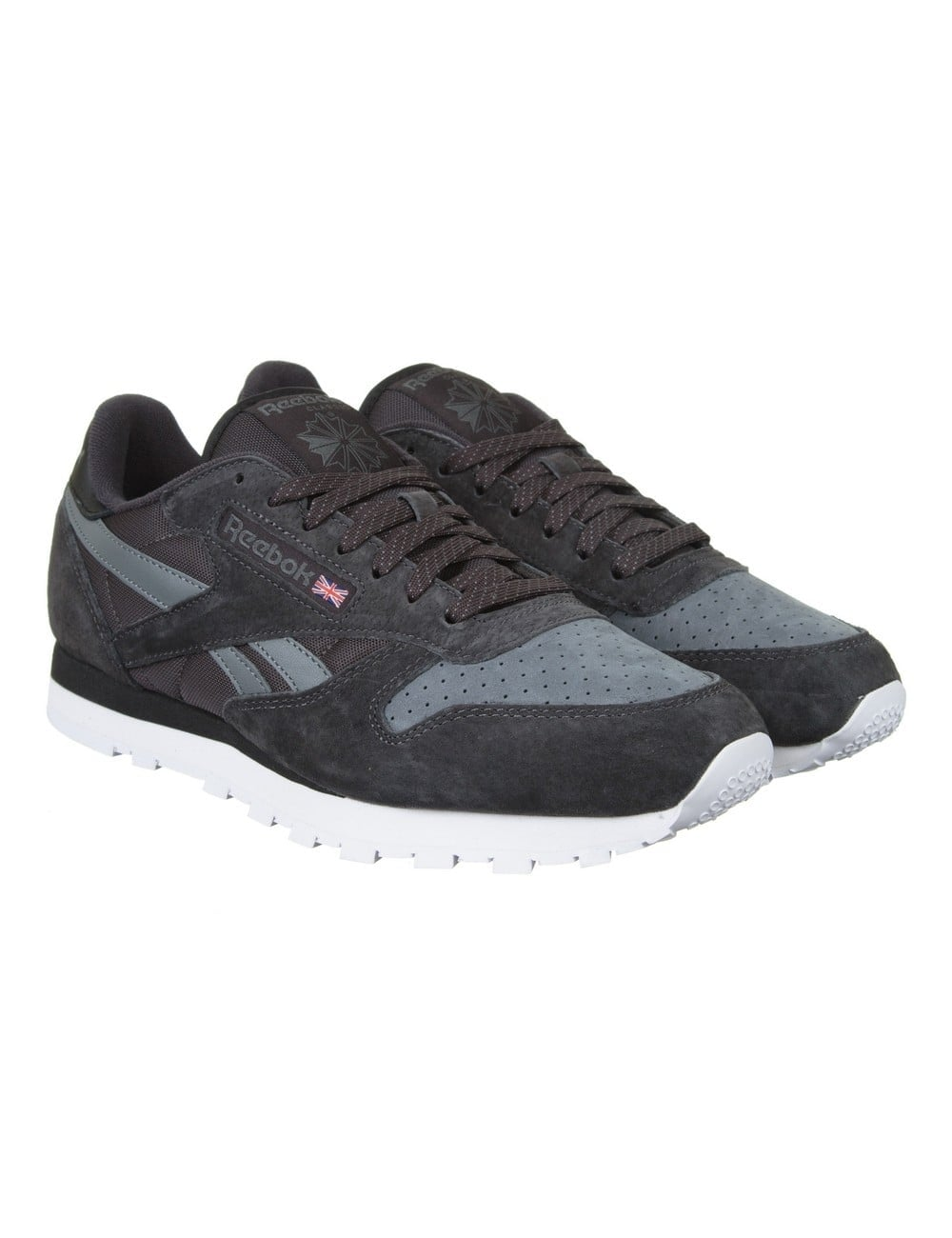 b424e5a30654e Reebok CL Leather NP Shoes - Coal Alloy - Footwear from Fat Buddha ...