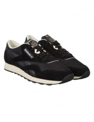 Reebok CL Nylon P Shoes - Black/Paper White