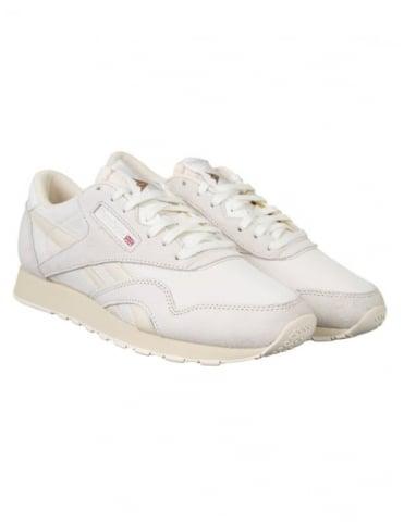 Reebok CL Nylon P Shoes - Chalk/Paper White