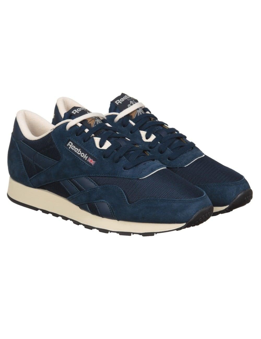 26de8925c Reebok CL Nylon P Shoes - Navy PPRW White - Footwear from Fat Buddha ...
