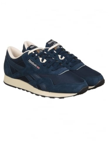 Reebok CL Nylon P Shoes - Navy/PPRW White