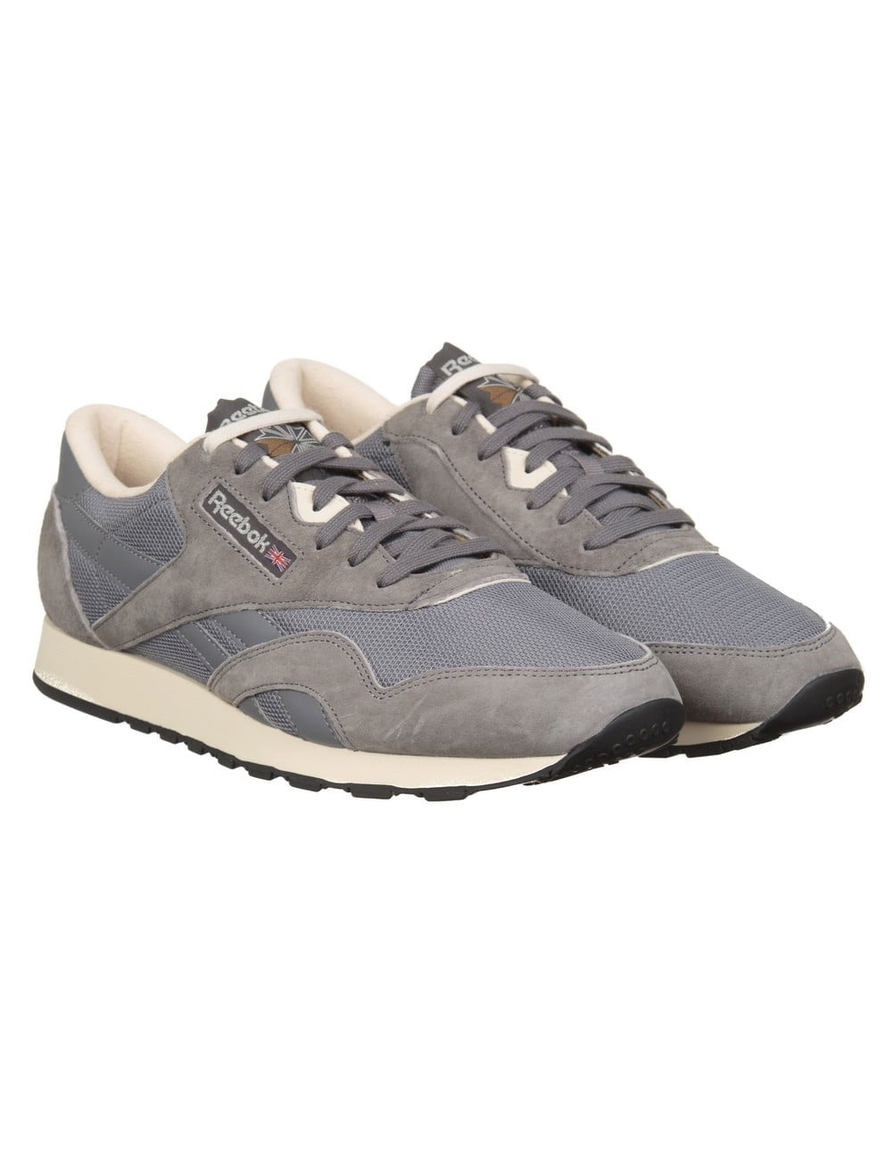 cd2848c018aa Reebok CL Nylon P Trainers - Shark PPRW White - Footwear from Fat ...