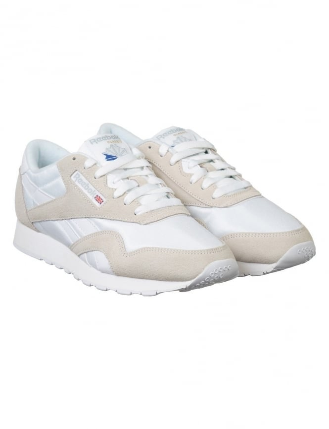 Reebok CL Nylon Shoes - White/Lt Grey