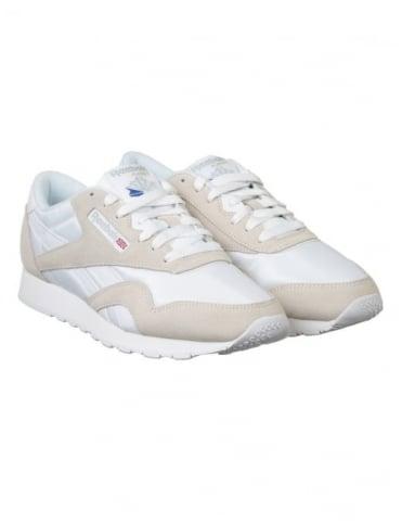 Reebok CL Nylon Shoes - White/Lt Grey