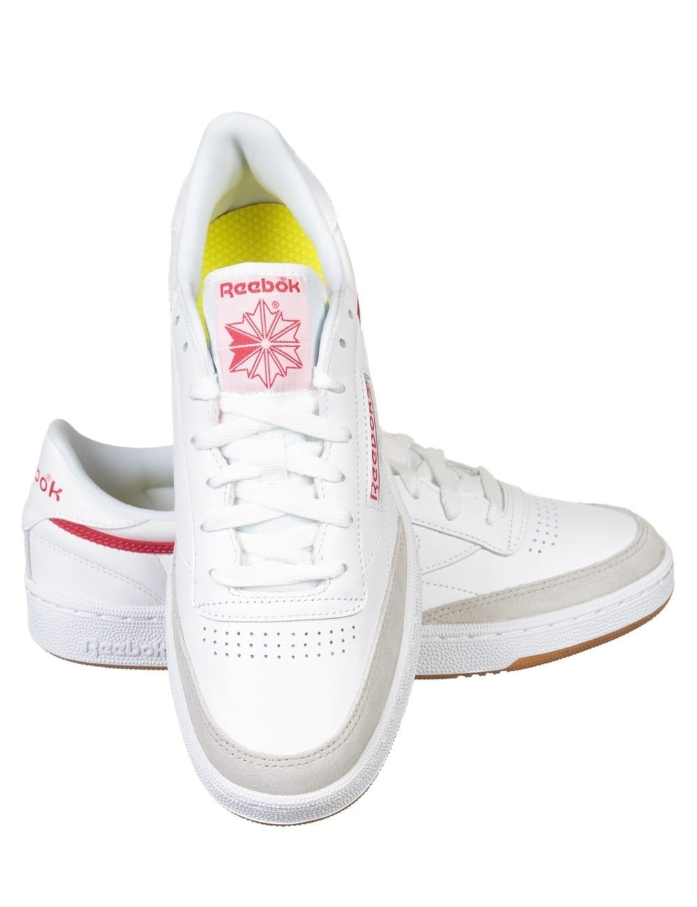 9b31acd37754 Reebok Club C 85 CP Shoes - White Grey Red - Footwear from Fat ...