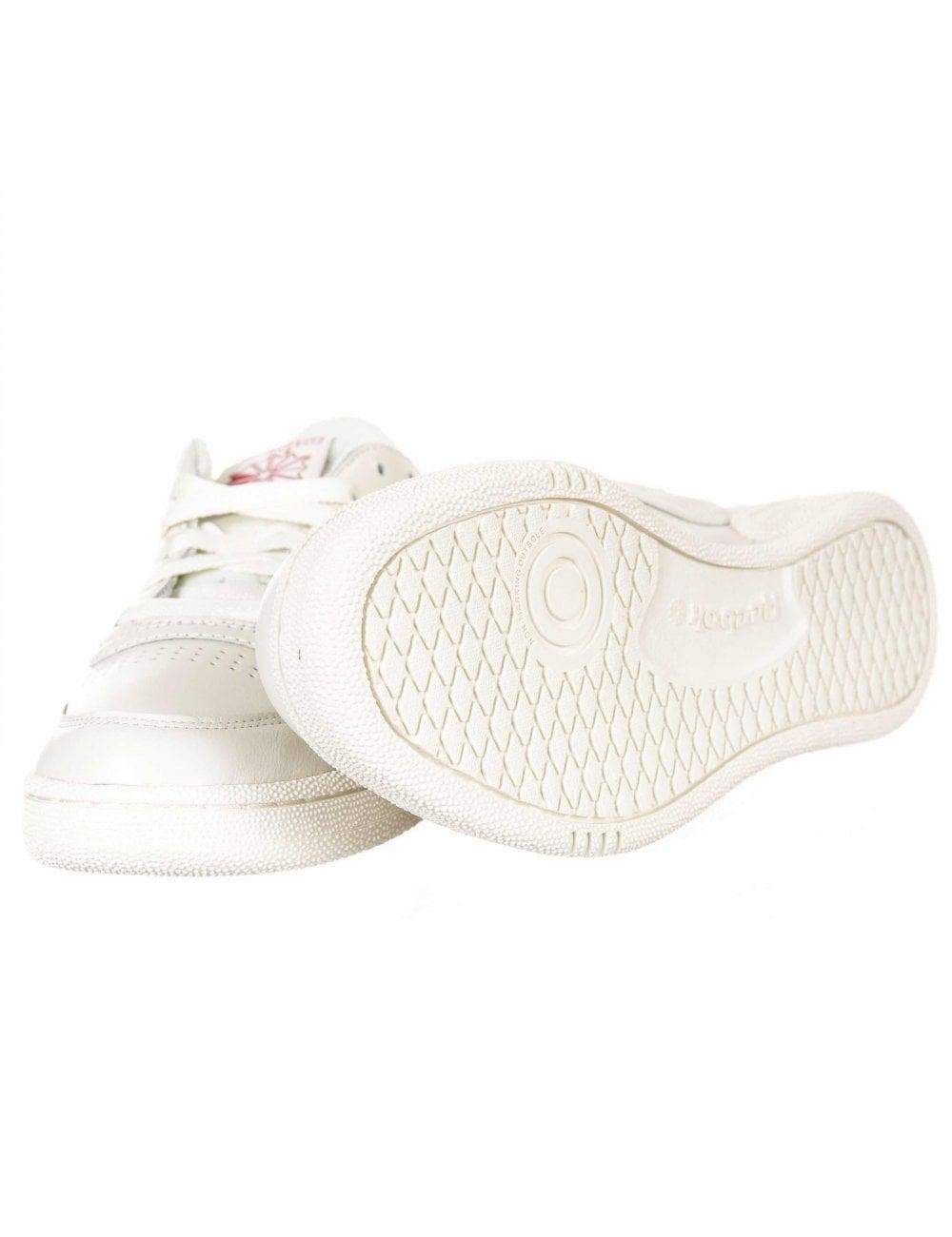 91801d2fc7b Reebok Club C 85 Mu Trainers - Chalk Meteor Red - Footwear from Fat ...
