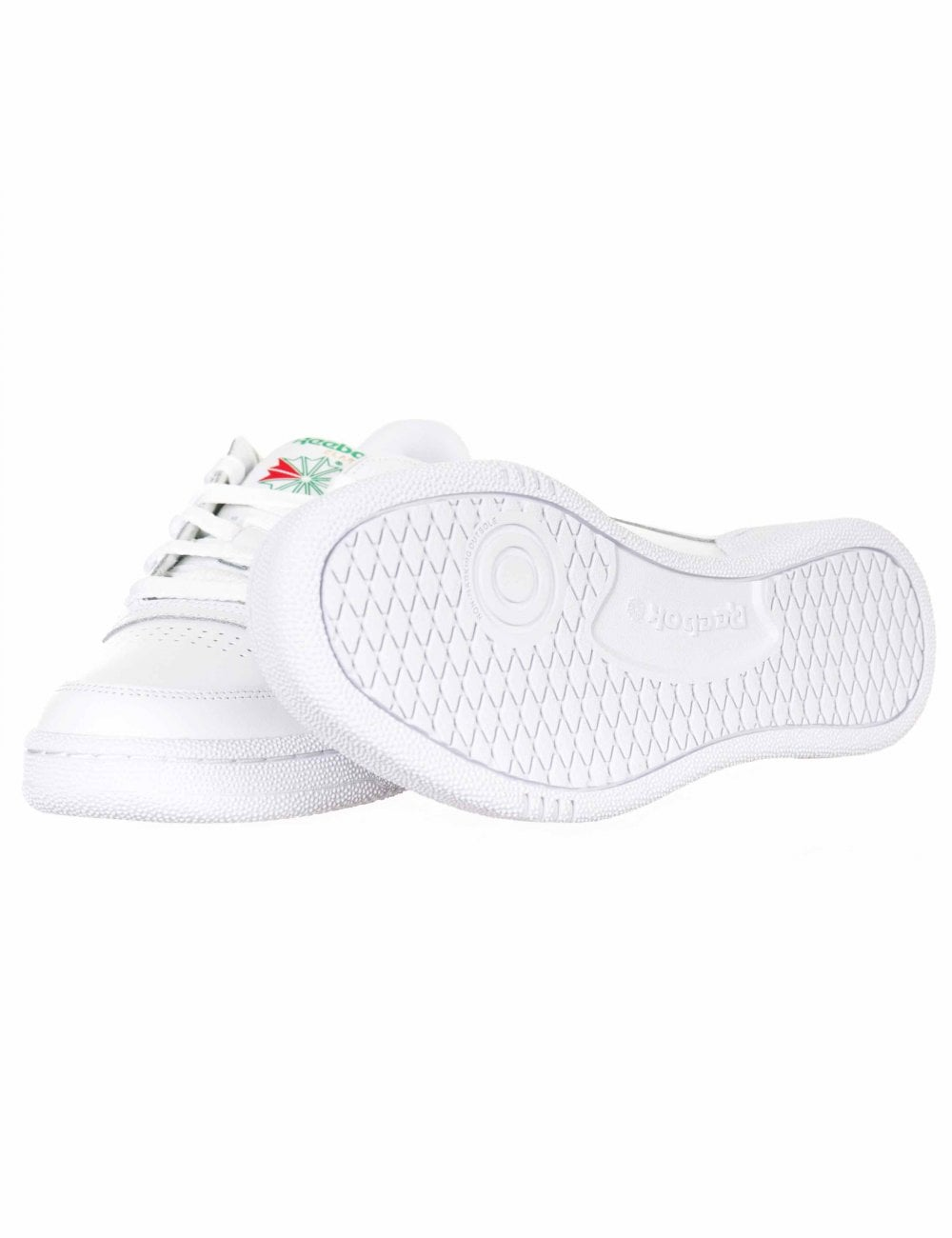 c3a656184c5 Reebok Club C 85 Trainers - White Green - Footwear from Fat Buddha ...