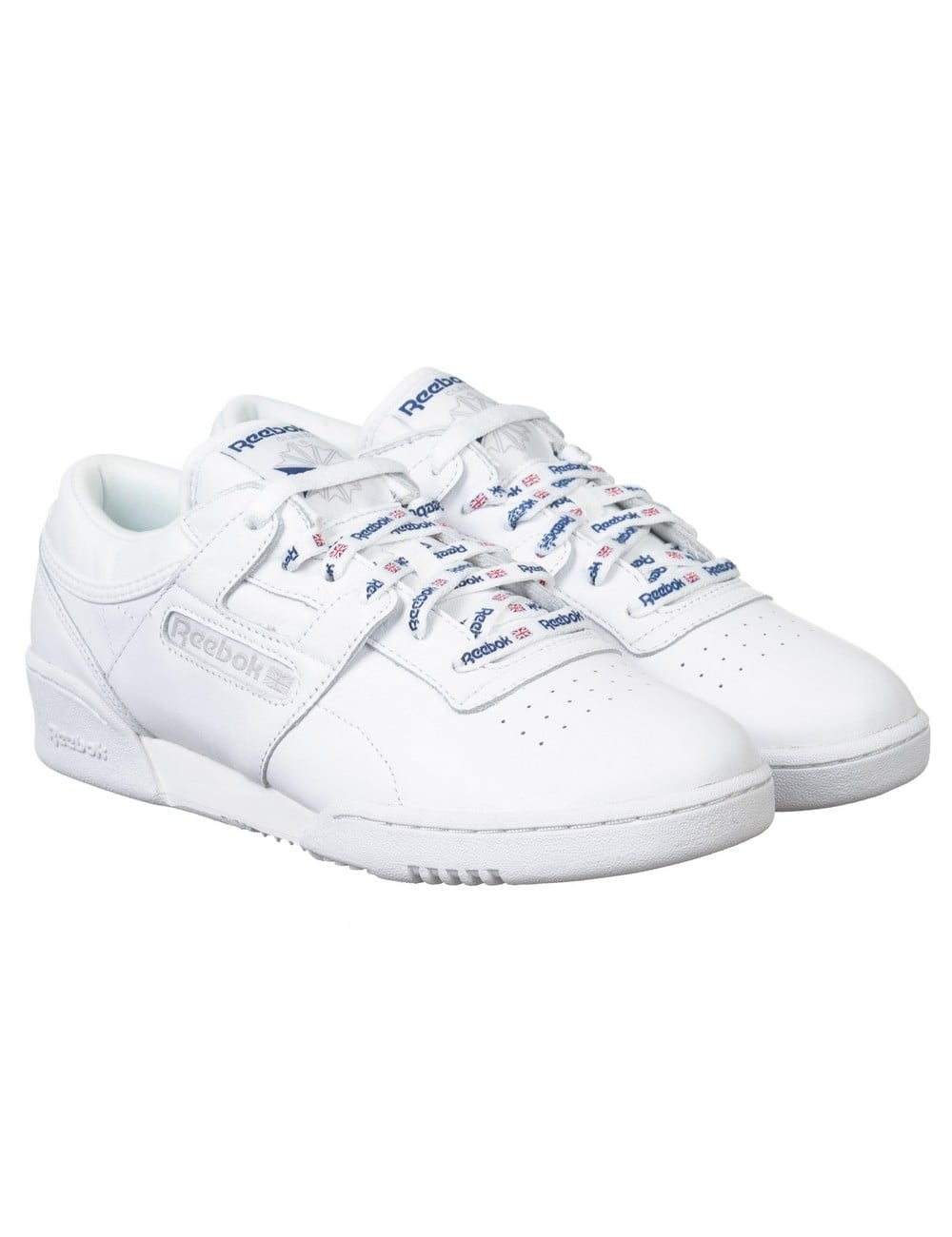 Reebok Workout Lo CL Nylon Shoes - White - Footwear From ...