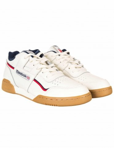 785ee8c0bfe Reebok Workout Plus MU Trainers - Classic White Navy Red