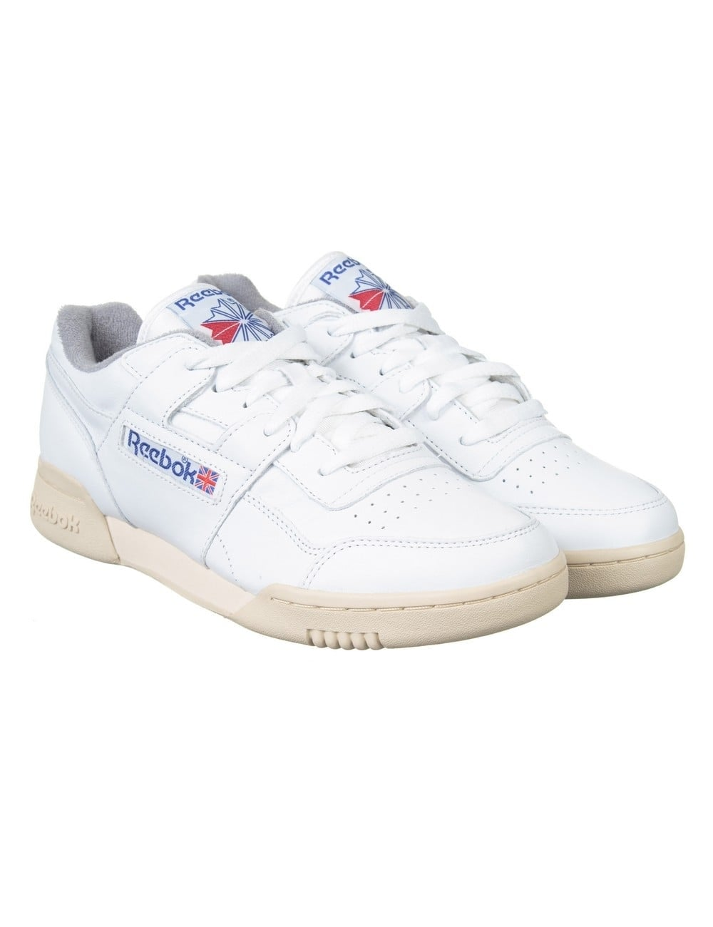 ef99463daa5894 Reebok Workout Plus Shoes - White Royal Grey Sand - Footwear from ...