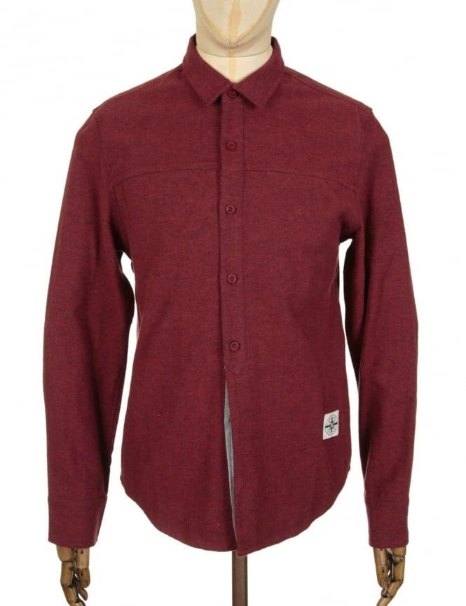 Roamers and Seekers Mineral Shirt - Burgundy