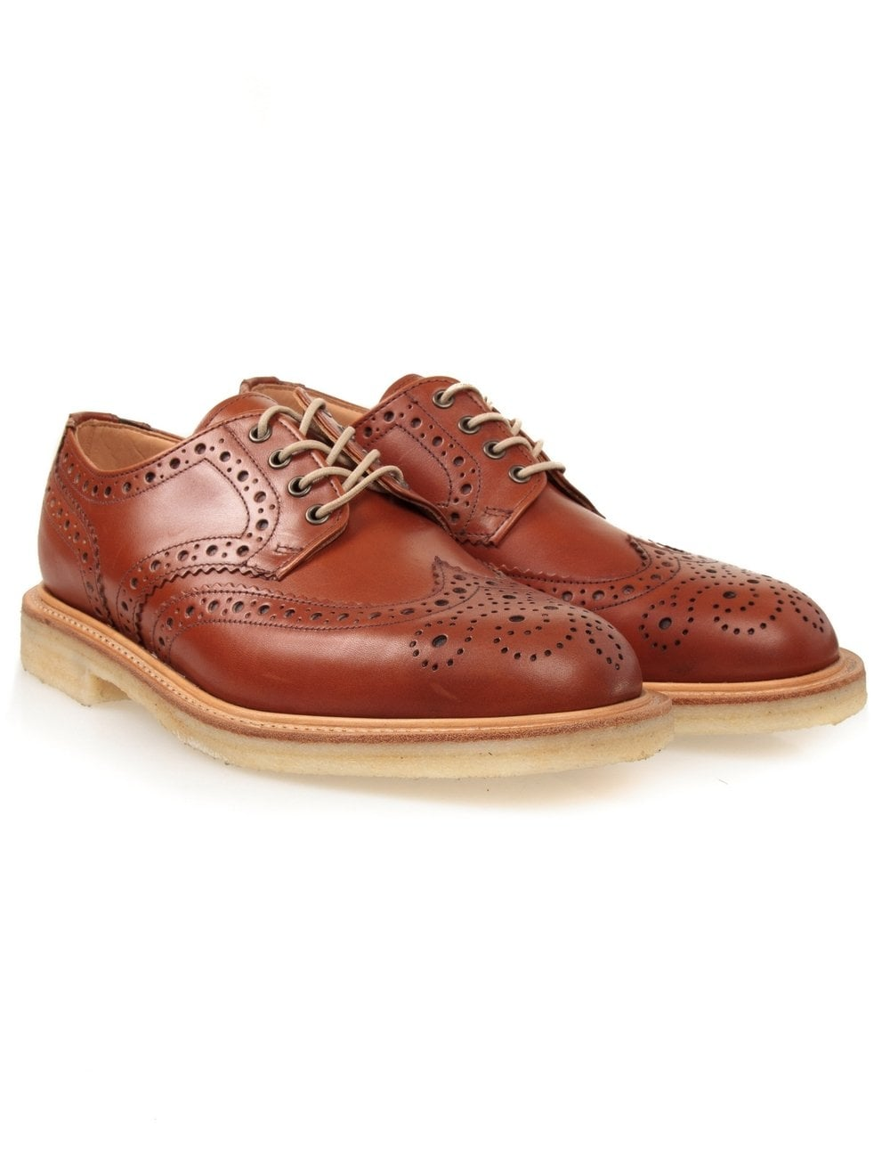 Sanders Alfie Brogue Shoes - Light Tan
