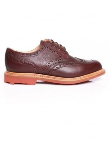 Sanders Jude Shoes - Dark Brown Grain