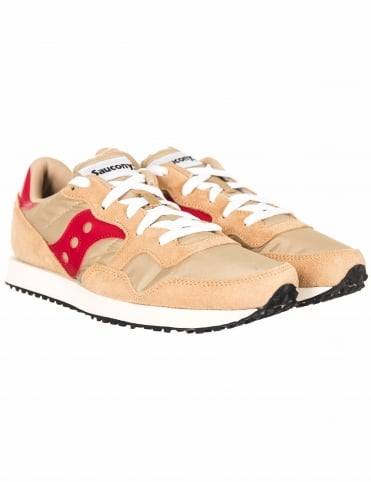 DXN Vintage Shoes - Tan/Red