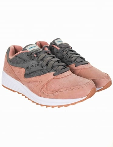 Grid 8000 Shoes - Salmon/Charcoal