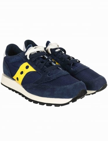 Saucony Jazz Original Vintage Shoes - Vintage Blue/Yellow