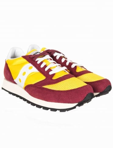 Jazz Vintage OG Shoes - Burgundy/Yellow