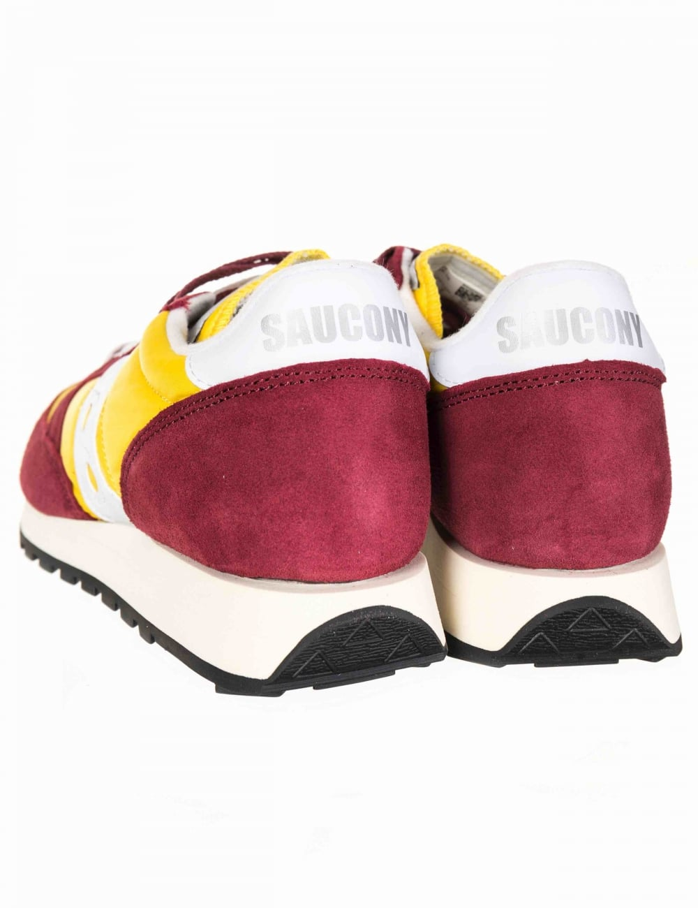 Saucony Jazz Vintage OG Shoes Burgundy//Yellow