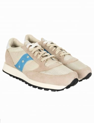 Jazz Vintage OG Shoes - Vintage Beige/Sky Blue