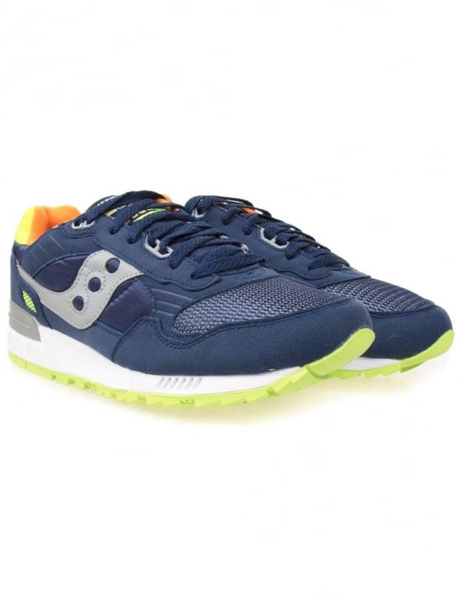 Saucony Shadow 5000 Trainers - Blue/Citron