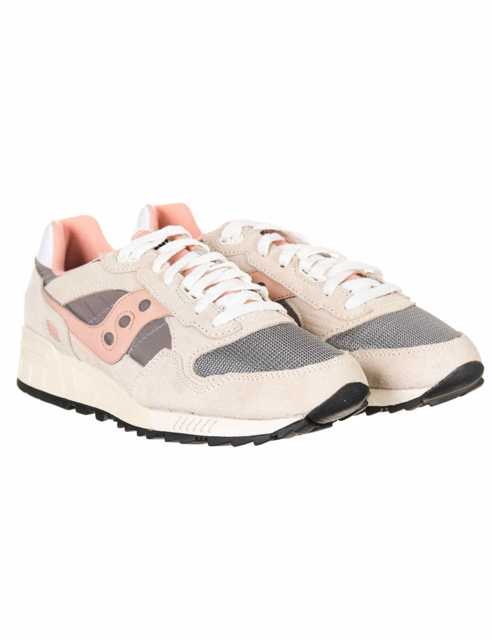 013a2bb81b00 Saucony Shadow 5000 Vintage Trainers - Off-White Grey Pink ...