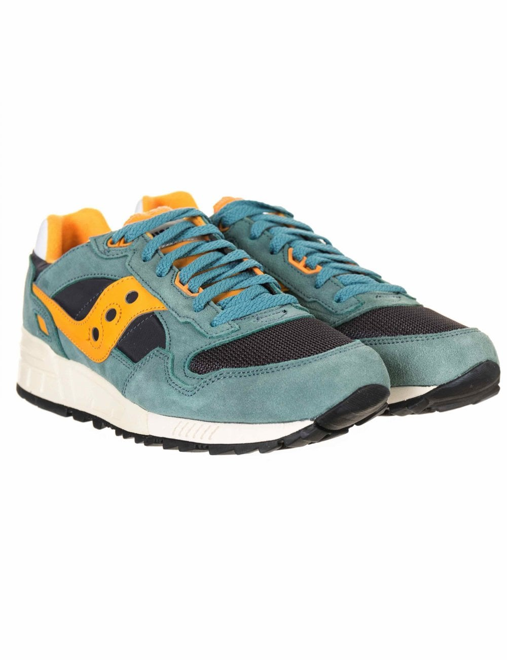 3e92f2a9d427 Saucony Shadow 5000 Vintage Trainers - Teal Blue Orange - Footwear from Fat  Buddha Store UK