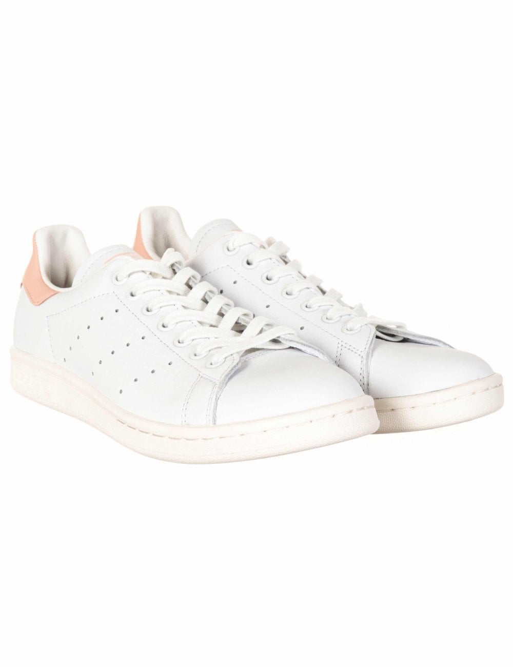 Caballo simpatía sucesor  Adidas Originals Stan Smith Trainers - White/Vapour Pink - Footwear from  Fat Buddha Store UK