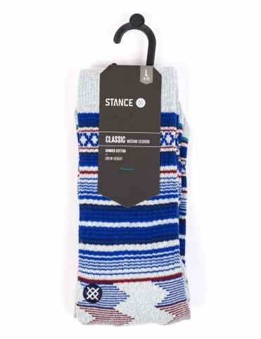 Guadalupe Classic Crew Socks - Heather Grey